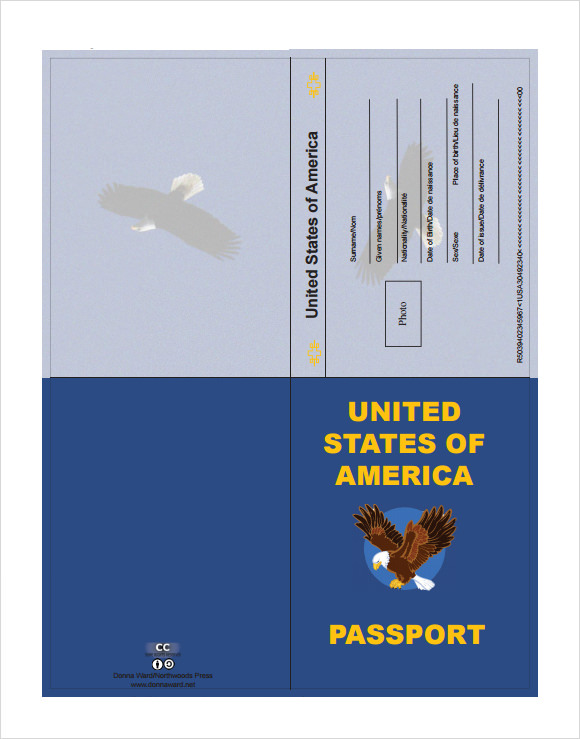Passport Templates  Free Word Pdf Psd Illustrator Format