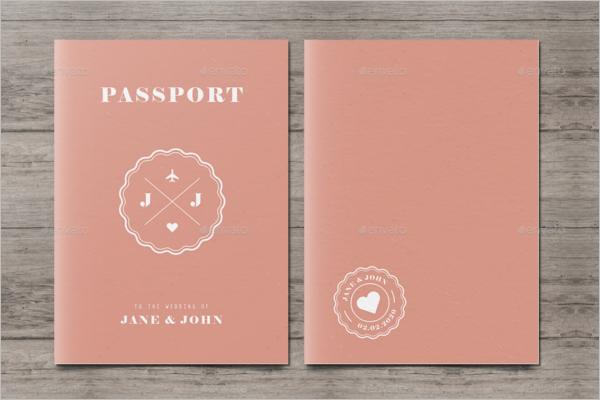 Passport Wedding Event Template Word