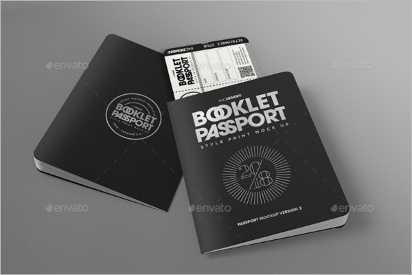 Passport With Boarding Pass Template