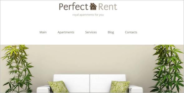 Perfect Realtor Rent WordPress Template