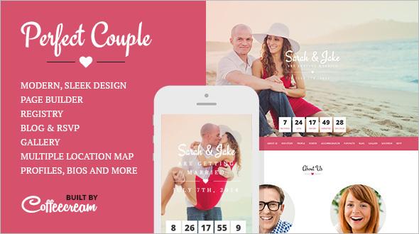 Perfect Wedding Couple WordPress Template