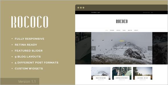 Personal Typography WordPress Template