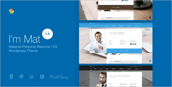 Personal material WordPress Template
