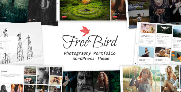 Photography Dark WordPress Template