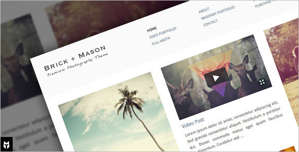 Photography Pinboard WordPress Template