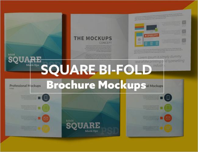 Photoshop Square Brochure Mockup