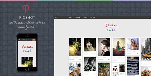 PicShots Reactive Blogger Template