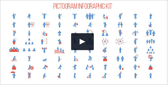 Pictogram Animation Infographic Kit Video