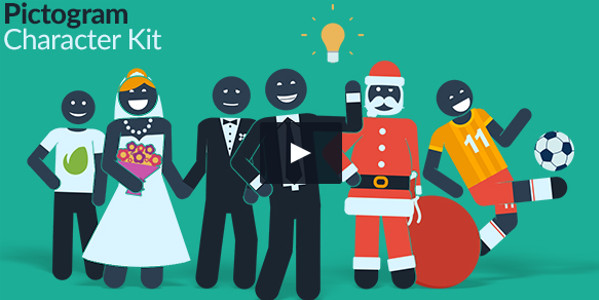 Pictogram Character Kit Commercial Tutorial Template