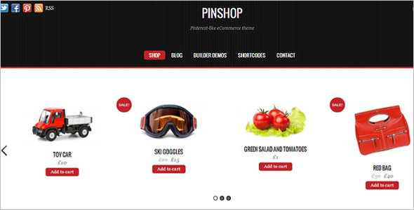 Pinshop E-commerce WordPress Template