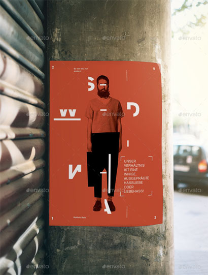 Pole Poster Mockup