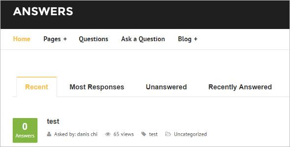 Portal Question & Answer WordPress Theme