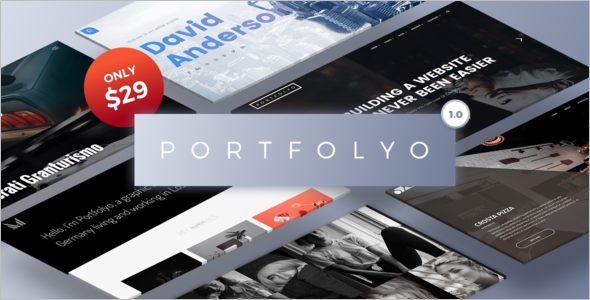Portfolio One Column WordPress Template