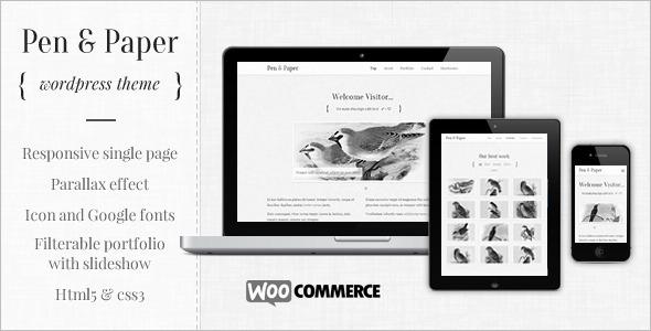 Portfolio Paper Pen WordPress Template