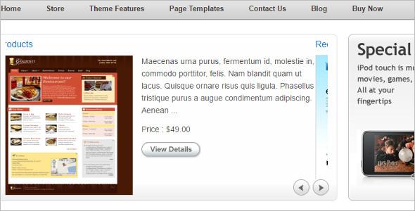 Portifolio Shopping WordPress Template