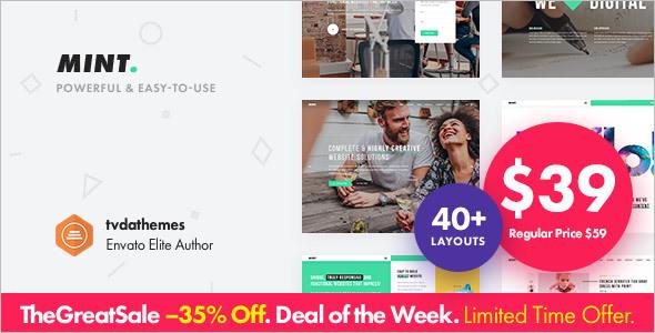 Poweful Sell WordPress Template
