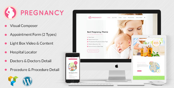 Pregnancy Health Website Template