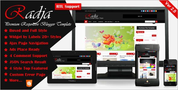 Premium Blogger Website Template