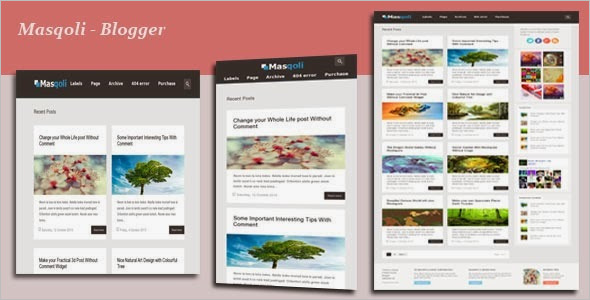 Premium Creative Blogger Template