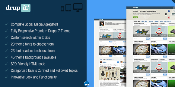 Premium Drupal WordPress Theme