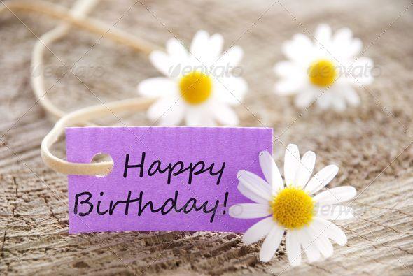 Premium Happy Birthday on a Purple Banner