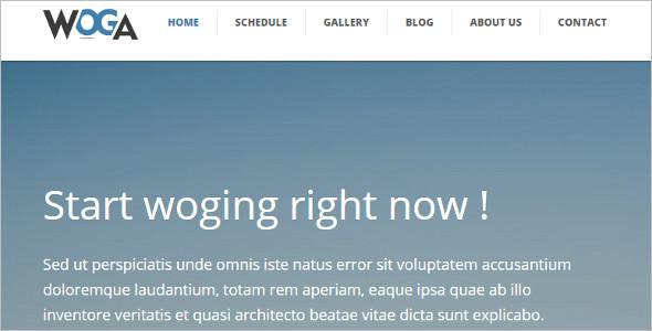 Premium Yoga Website Template