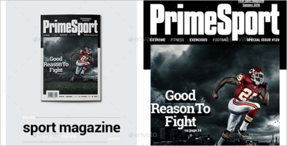 Print Templates Magazines Template