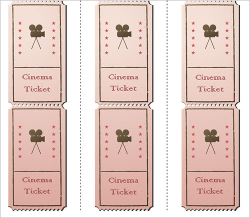 Printable Movie Ticket Template. Word Button1  Movie Ticket Templates For Word