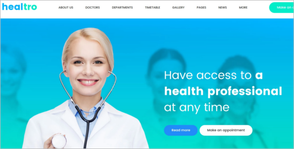 Private Medical Clinic WodrdPress Template