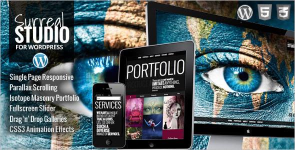 Professional OnePage Parallax WordPress Theme