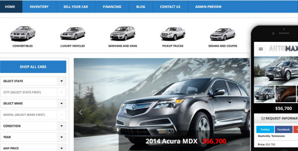 Professional WordPress Car Dealership Theme