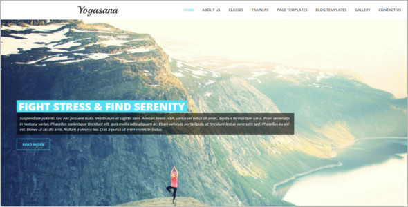 Professional Yoga Website Template