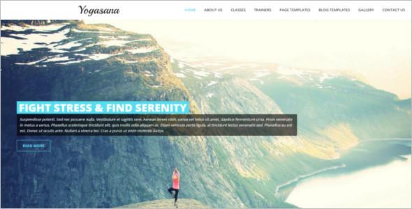 Professional Yoga Website Template
