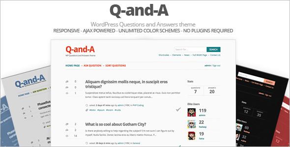 Question & Answer WordPress Design Theme