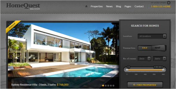 Realtor Homework Website Template