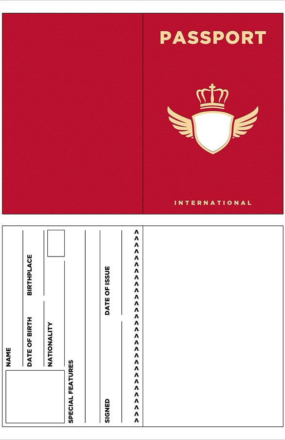 Red-Passport-Template