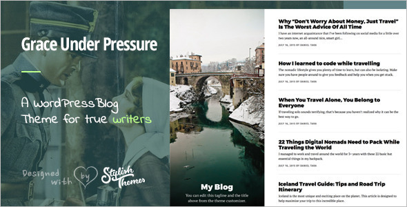 Responsive Author WordPress Template