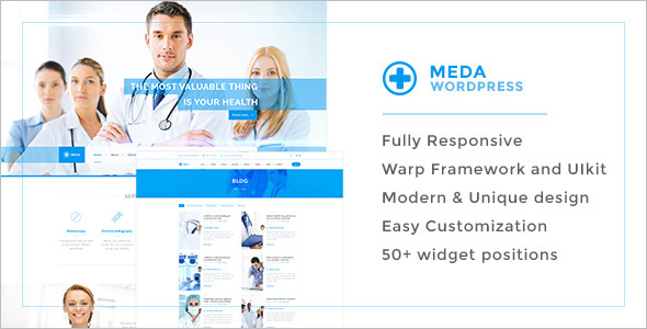Responsive HealthCare WordPress Template
