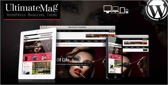 Responsive Magazine WordPress Template