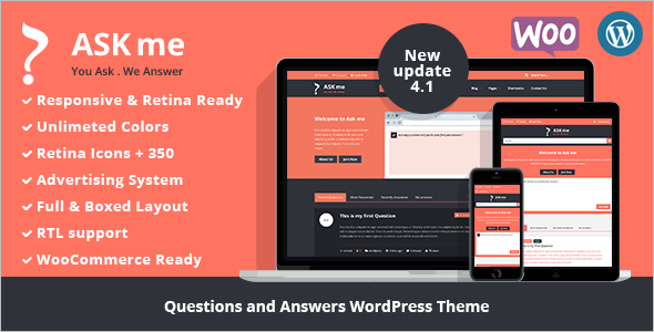Responsive Questions & Answers WordPress Theme