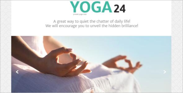 Responsive Yoga Website Template