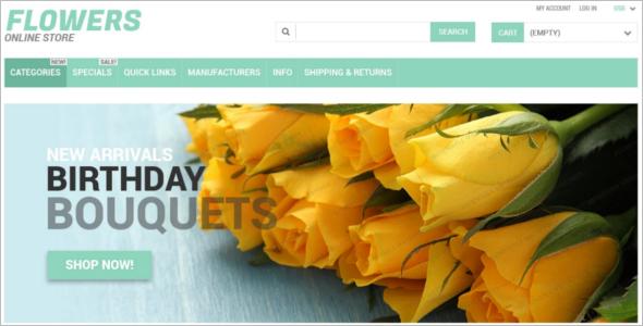 Responsive Zen cart Website Template