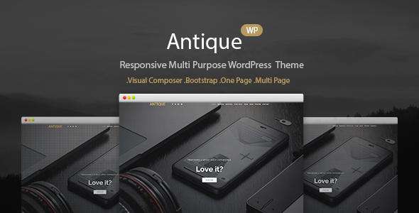 Responsive dark WordPress Template