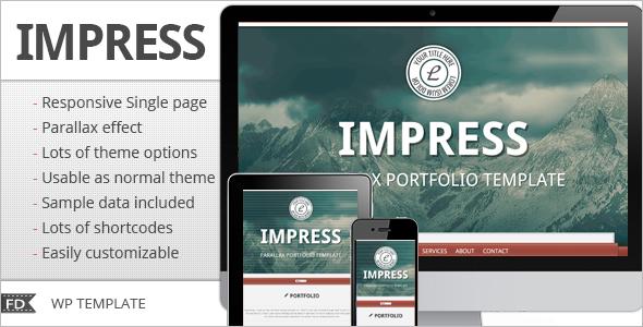 Responsive parallax WordPress Template
