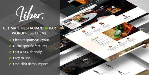 Restaurant & Bar WordPress Theme