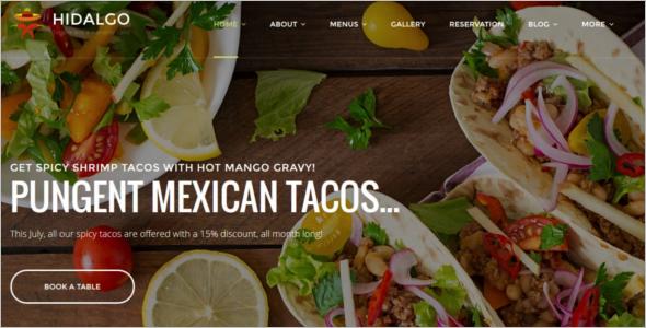 Restaurant Food WordPress Template
