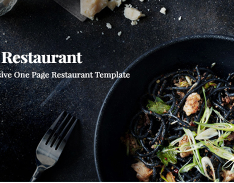 Restaurant HTML5 Website Template