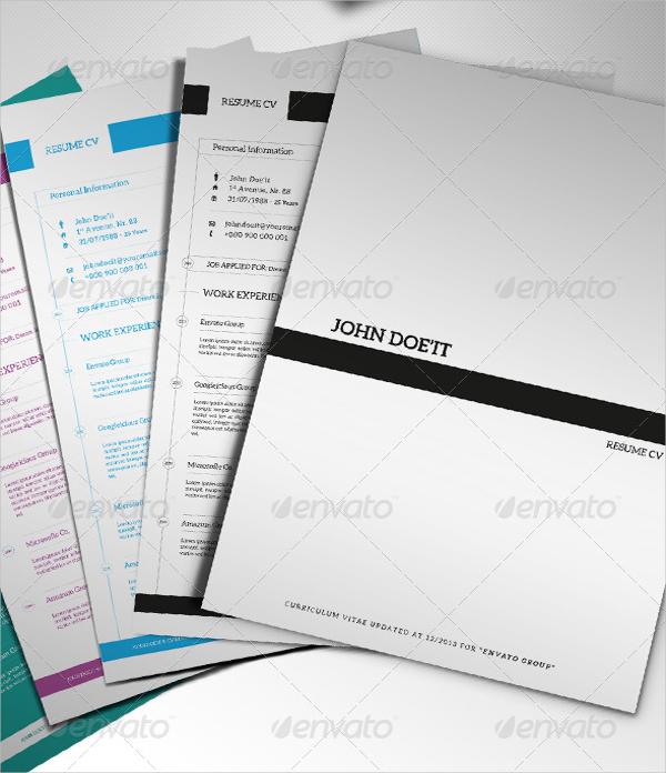 resume cover page template1. Black Bedroom Furniture Sets. Home Design Ideas