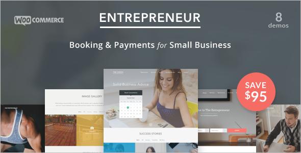 Retail Booking WordPress Template