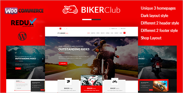 Retail Motor Cycle WordPress Template